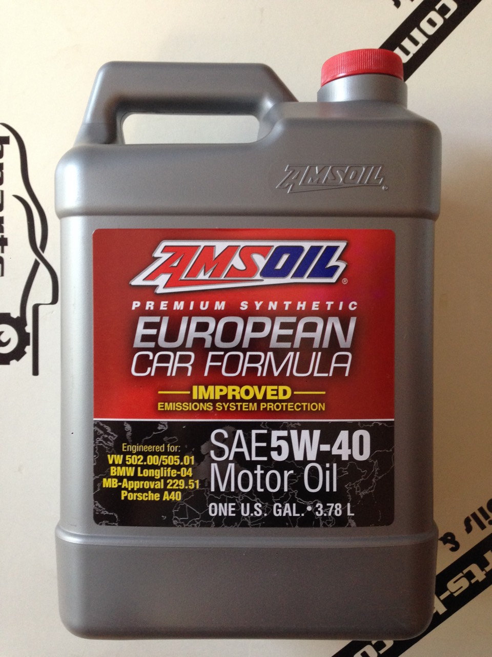 AMSOIL 5W40 European Car Formula Improved 3.785 ml.