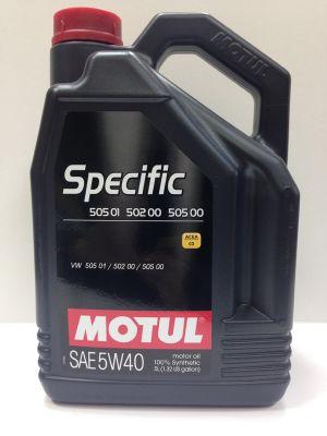 5W40 Specific 505.01 - 5 литра