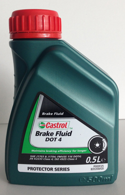 Castrol Brake Fluid Dot 4 - 0.5 литра