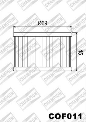 COF011 - Champion - маслен филтър